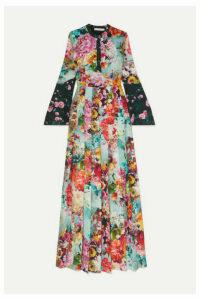 Mary Katrantzou - Desmine Floral-print Crepe De Chine Maxi Dress - Blue
