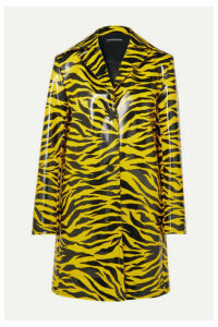 Kwaidan Editions - Tiger-print Pu Coat - Yellow