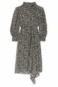 Isabel Marant - Julinea Asymmetric Floral-print Fil Coupé Chiffon Midi Dress - Black