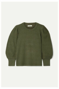 Madewell - Lemon Ribbed-knit Sweater - Army green