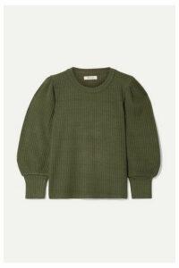 Madewell - Lemon Ribbed Wool Sweater - Army green
