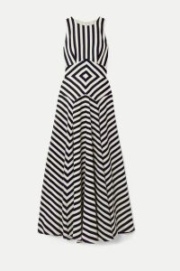J.Crew - Lisbeth Striped Crepe Maxi Dress - Midnight blue