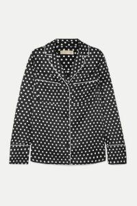 MICHAEL Michael Kors - Polka-dot Hammered-satin Shirt - Black