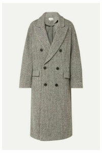 Isabel Marant Étoile - Habra Double-breasted Bouclé Coat - Gray