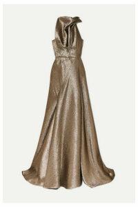 Maticevski - Gathered Lurex Gown - Gold