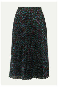 Paul & Joe - Ksolare Pleated Metallic Floral-print Chiffon-jacquard Skirt - Black