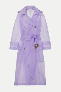 Nanushka - Tuscan Belted Organza Trench Coat - Lilac