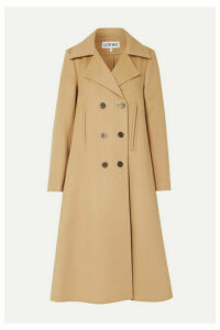 Loewe - Double-breasted Wool And Cashmere-blend Coat - Camel