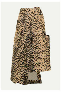 Jacquemus - Thika Leopard-print Cotton-blend Midi Skirt - Leopard print