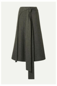 Lauren Manoogian - Alpaca-blend Wrap Skirt - Brown