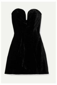 Michael Lo Sordo - Jessica Strapless Velvet Mini Dress - Black