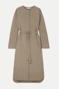 LE 17 SEPTEMBRE - Autumn Belted Woven Midi Dress - Beige
