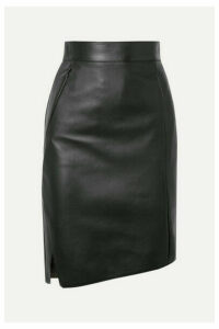 Akris - Asymmetric Leather Skirt - Green