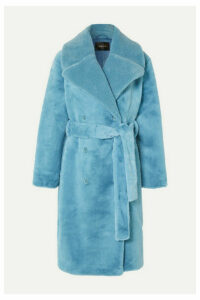 Stine Goya - Happy Double-breasted Faux Fur Coat - Light blue