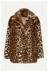 Paul & Joe - Caban Leopard-print Faux Fur Coat - Leopard print
