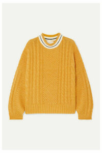 The Great - The Cable Knitted Sweater - Yellow