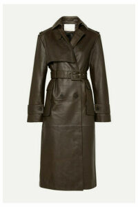 REMAIN Birger Christensen - Pirello Belted Leather Trench Coat - Army green