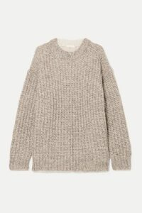 See By Chloé - Oversized Ribbed Two-tone Knitted Sweater - Beige