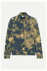 Dries Van Noten - Cakool Floral-print Silk Crepe De Chine Shirt - Dark gray