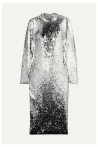 Veronica Beard - Nila Sequined Stretch-tulle Midi Dress - Silver