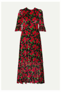 The Vampire's Wife - Festival Ruffled Tiered Floral-print Velvet Maxi Dress - UK10