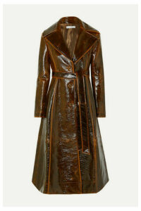 REJINA PYO - Rhea Coated Wool-blend Trench Coat - Chocolate