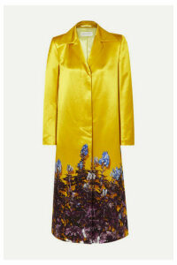 Dries Van Noten - Rye Floral-print Cotton-blend Satin Coat - Yellow