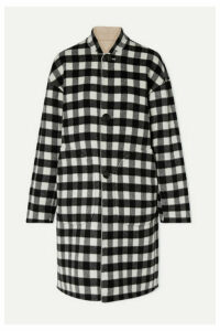Mansur Gavriel - Reversible Checked Wool Coat - Black