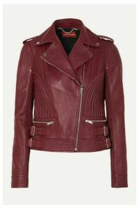 Altuzarra - Earhart Leather Biker Jacket - Burgundy