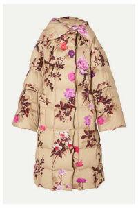 Dries Van Noten - Recabis Oversized Floral-print Quilted Shell Down Coat - Beige