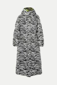 Moncler Genius - + 0 Richard Quinn Tippi Oversized Zebra-print Quilted Shell Down Coat - Black