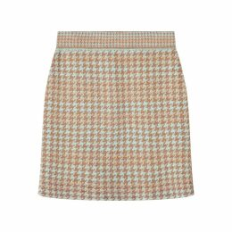 STUDIO MYR - Knitted Knee Length Pencil Skirt In Pieds-De-Poule Pattern Tweed-Fair