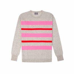 Orwell + Austen Cashmere - Purl Stripe Knit In Grey