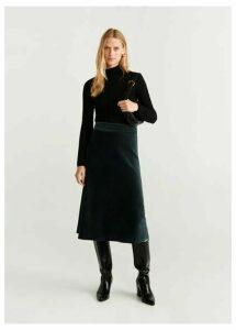 Midi textured skirt