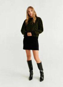 Corduroy belt miniskirt
