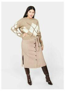 Rhombus knit sweater