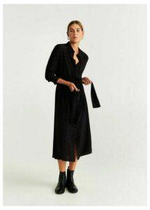 Polka-dots shirt dress