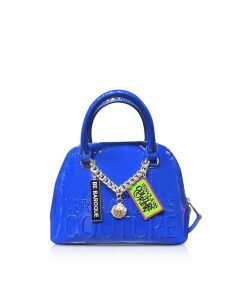 Versace Jeans Couture Designer Handbags, Embossed Logo Top Handle Bag w/ Charms