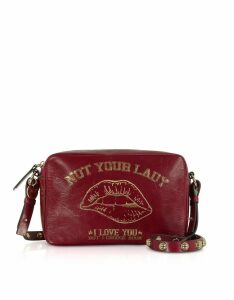 RED Valentino Designer Handbags, Not Your Lady Dark Red Crossbody Bag