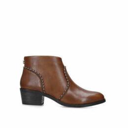 Steve Madden Walball - Tan Studded Block Heel Ankle Boots