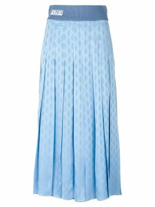 Fendi geometric print pleated skirt - Blue