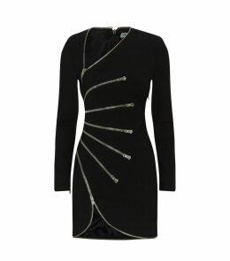Asymmetric Zip Mini Dress
