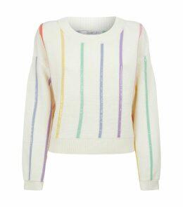 Hallie Sequin Striped Sweater
