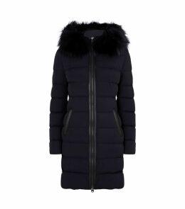 Fur-Trim Down Coat