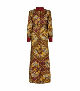 Febo Tiger Print Belted Dress