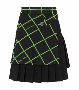 Multi-Panel Flock Mini Skirt