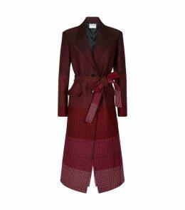 Beatrice Wool Check Coat