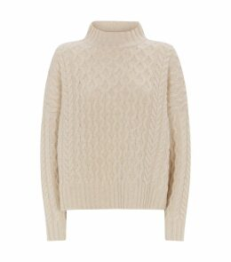 Wool Cable-Knit Origano Sweater