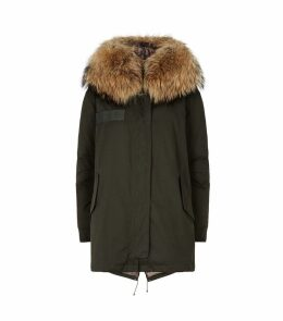 Fur-Trim Parka Coat