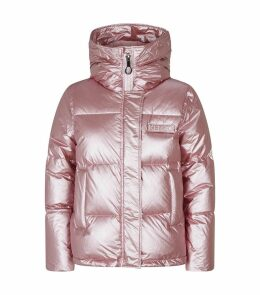 Logo Patch Quilted Puffer Jacket